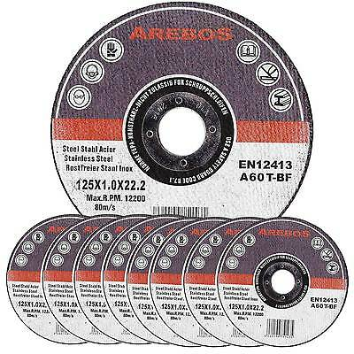 """50 x  Thin Metal Stainless Steel Cutting Slitting Discs 125mm Angle Grinder 4.5"""""""
