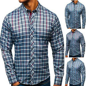 Herren Freizeithemd Herrenhemd Hemd Shirt Slim Fit Casual Men BOLF 2B2 Classic