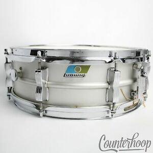 Ludwig-14x5-034-Acrolite-Snare-Drum-Baked-Aluminum-Shell-8-Lug-Chicago-Vintage-1980