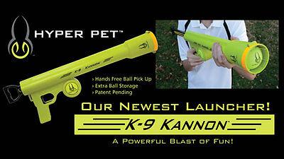 Dog Tennis Ball Launcher Thrower Fetch K9 Kannon Hyper Dog Pet Toy Beach Toy