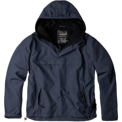 Surplus Windbreaker Jacket Mens Hood Hiking Outdoor Fleece Lining Anorak Navy