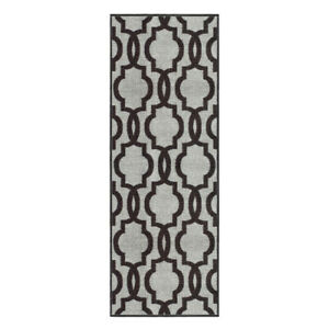 Custom-Size-Stair-Hallway-Runner-Rug-Non-Slip-Rubber-Back-Grey-Moroccan-Trellis