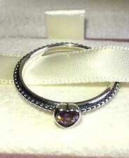 PANDORA DELICATE HEART RING 190896SLP, S925 ALE,SIZE 52,STERLING SILVER+ POUCH
