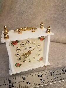 Vintage-Wind-Up-Table-Alarm-Clock-Jerger-Made-In-West-Germany-vintage-roses