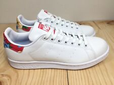 Adidas Women Stan Smith White Floral Canvas Casual Shoes BB5157