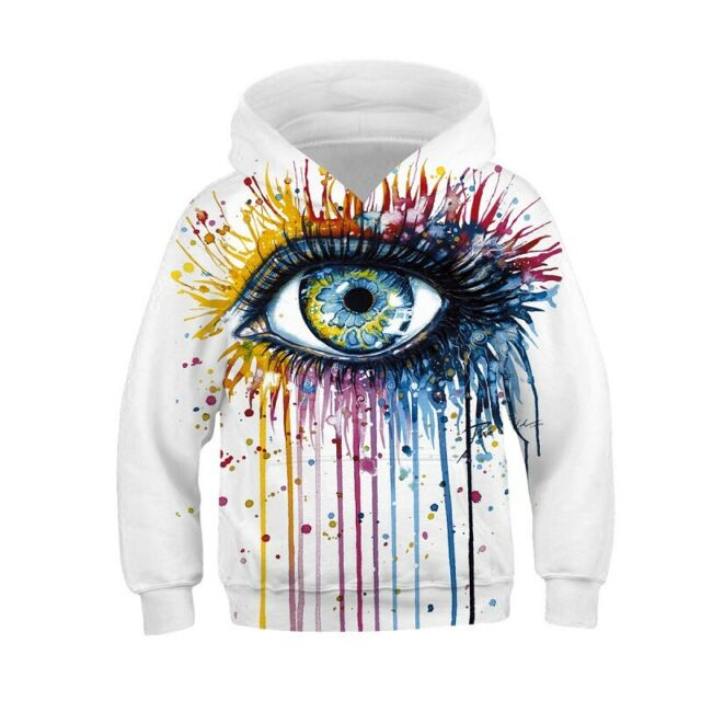 Jungen Mädchen 3D Tier Hoodie Sweatshirt Pullover Kapuzenpulli Freizeit Sweater