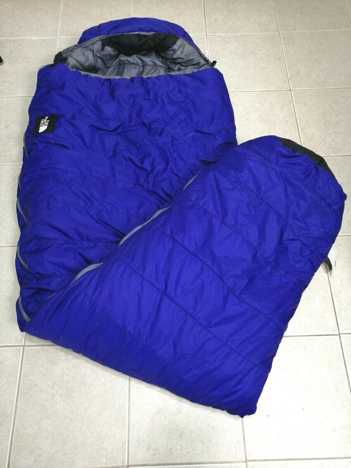 North Face Bigfoot Sleeping Bag blu 80 x 29  Polarguard READ