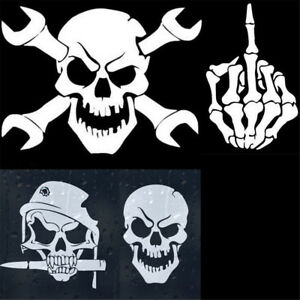 COUNTRY TO THE BONE Skull Vinyl Decal Sticker B