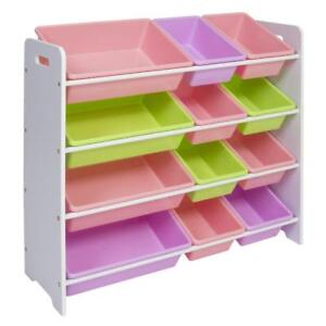 Details about Toy Bin Shelf Organizer Storage Box Playroom Kids Childrens  Bedroom Shelves Toys