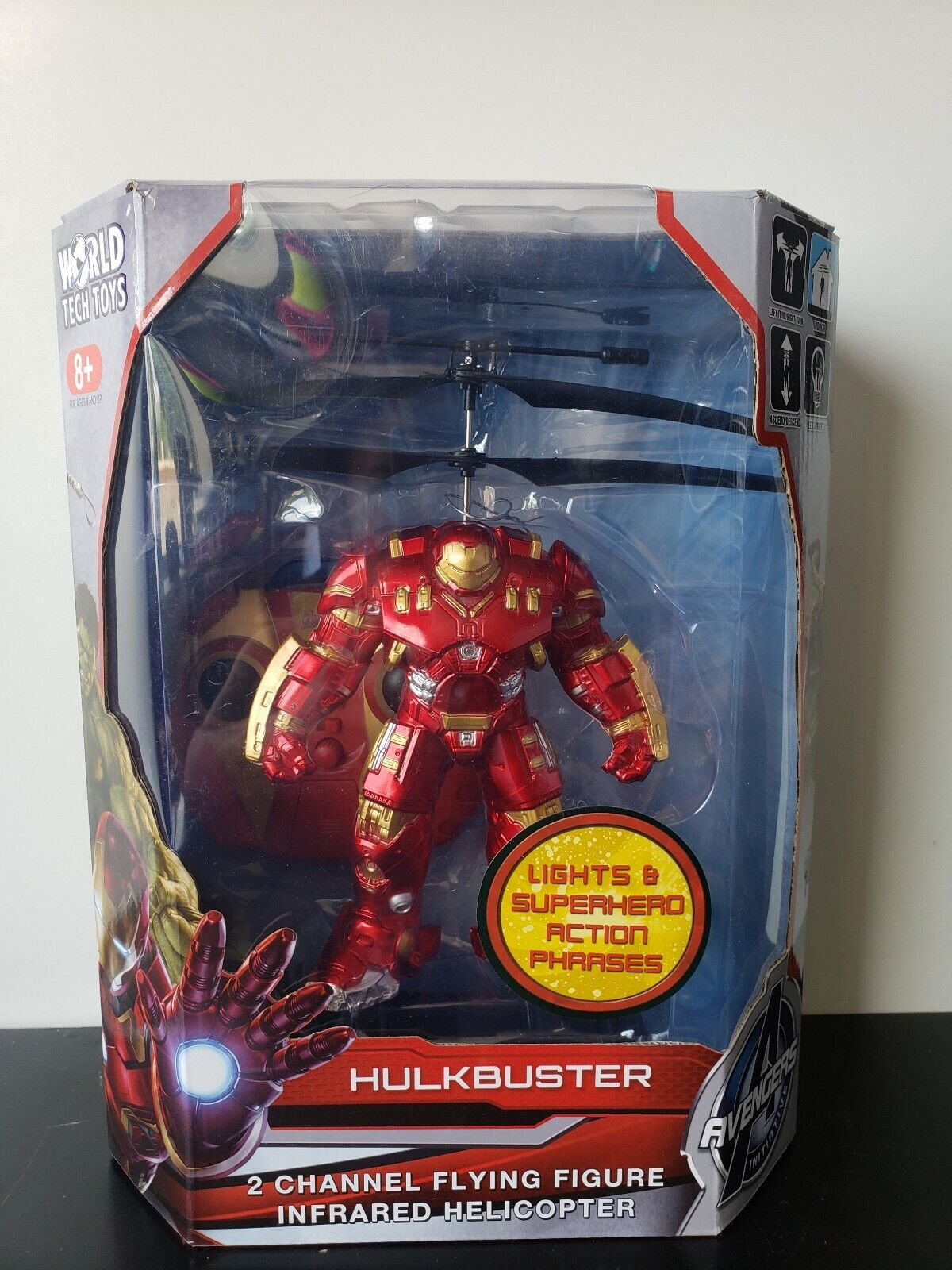 Helicopter Marvel Avengers Age of Ultron Hulkbuster 2 channel Flying Figure