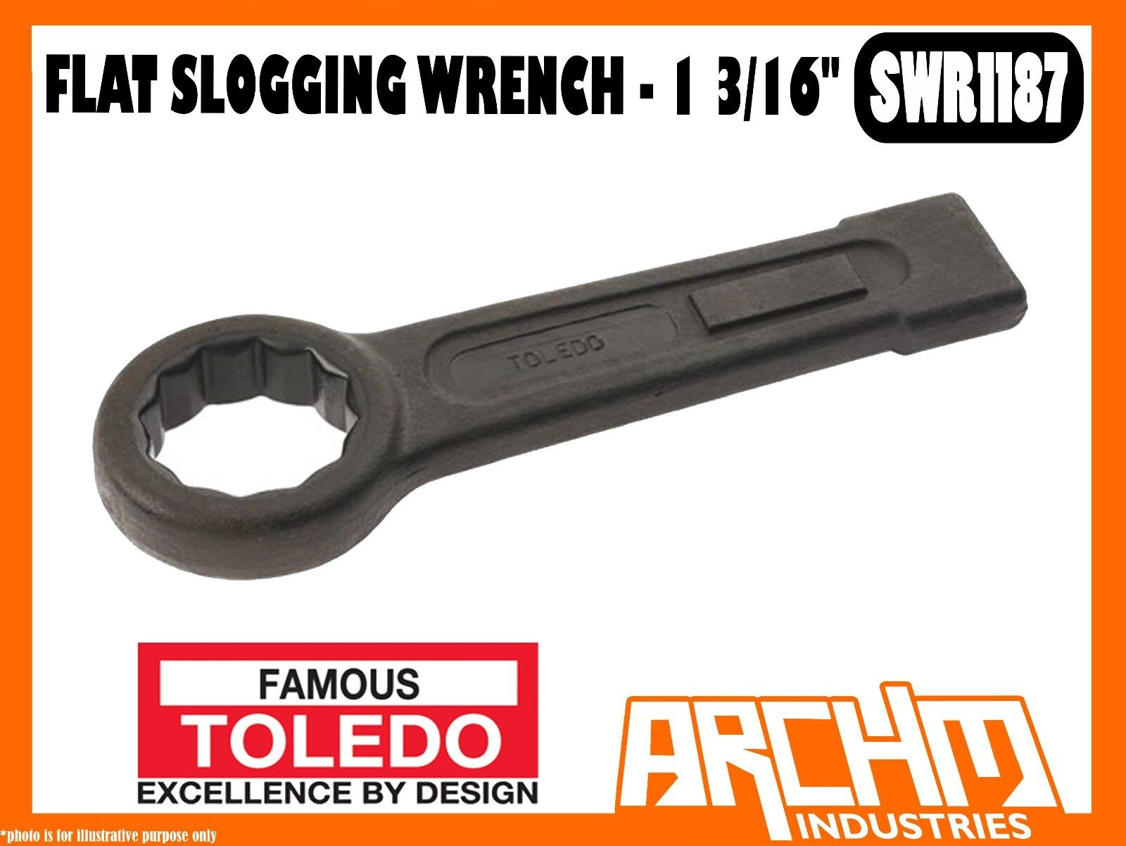 TOLEDO SWR1187 - FLAT SLOGGING WRENCH - 1 3 16  - IMPERIAL