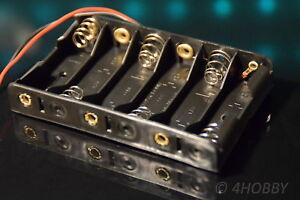 4 St Batteriehalter 2xMignon AA LR6 geschlossen Ein-Ausschalter incl De Versand