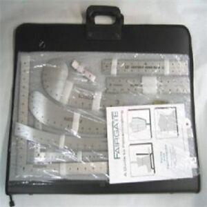 Fairgate 15 100 Fashion Designer S Inch Carryall Ruler Kit With Case 747465158975 Ebay