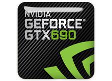 "nVidia GeForce GTX 690 1""x1"" Chrome Domed Case Badge / Sticker Logo"