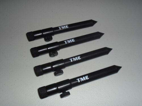 4 x TMC Aluminium Bank Sticks 15-25 cm/'s Rod Rests Alarms 16mm Buzz Bar