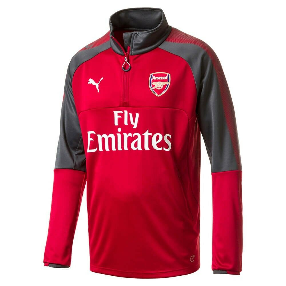 Puma Arsenal FC Official 2017 - 2018 Soccer DryCell Training Top ROT / Charcoal