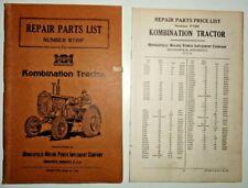 Minneapolis Moline Kombination Tractor Parts Amp Price List Manuals Book Catalog
