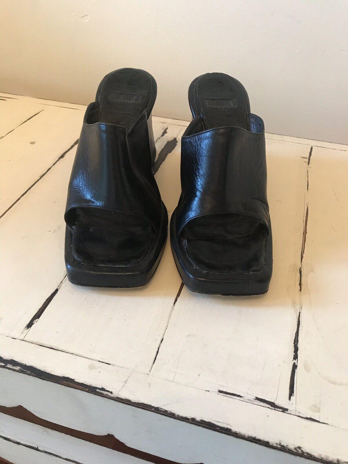 MARE noir Femme Talon Haut Compensé chaussures 6 US