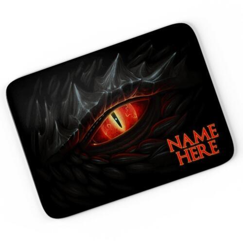 Personalised Dragon Eye Mouse Mat Pad Computer Gaming Cool Gift Him Boys KS27
