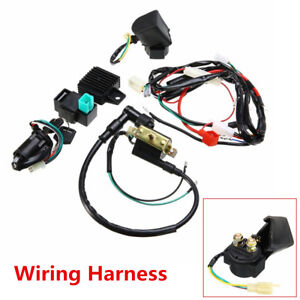 details about motorcycle ignition wiring harness kit for 50cc 110cc 125cc quad dirt bike atv Jeep CJ7 Ignition Wire Harness