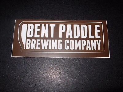 "BENT PADDLE BREWING Minnesota cold press 2/"" grn STICKER decal craft beer brewery"