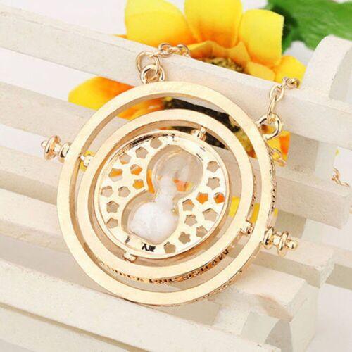 Harry Potter Hermoine Granger Gold Time Turner Rotating Hourglass Necklace Kj