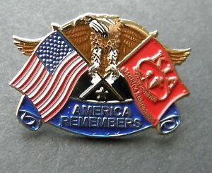 USA FLAG AMERICAN EAGLE LAPEL PIN BADGE 1.5 INCHES