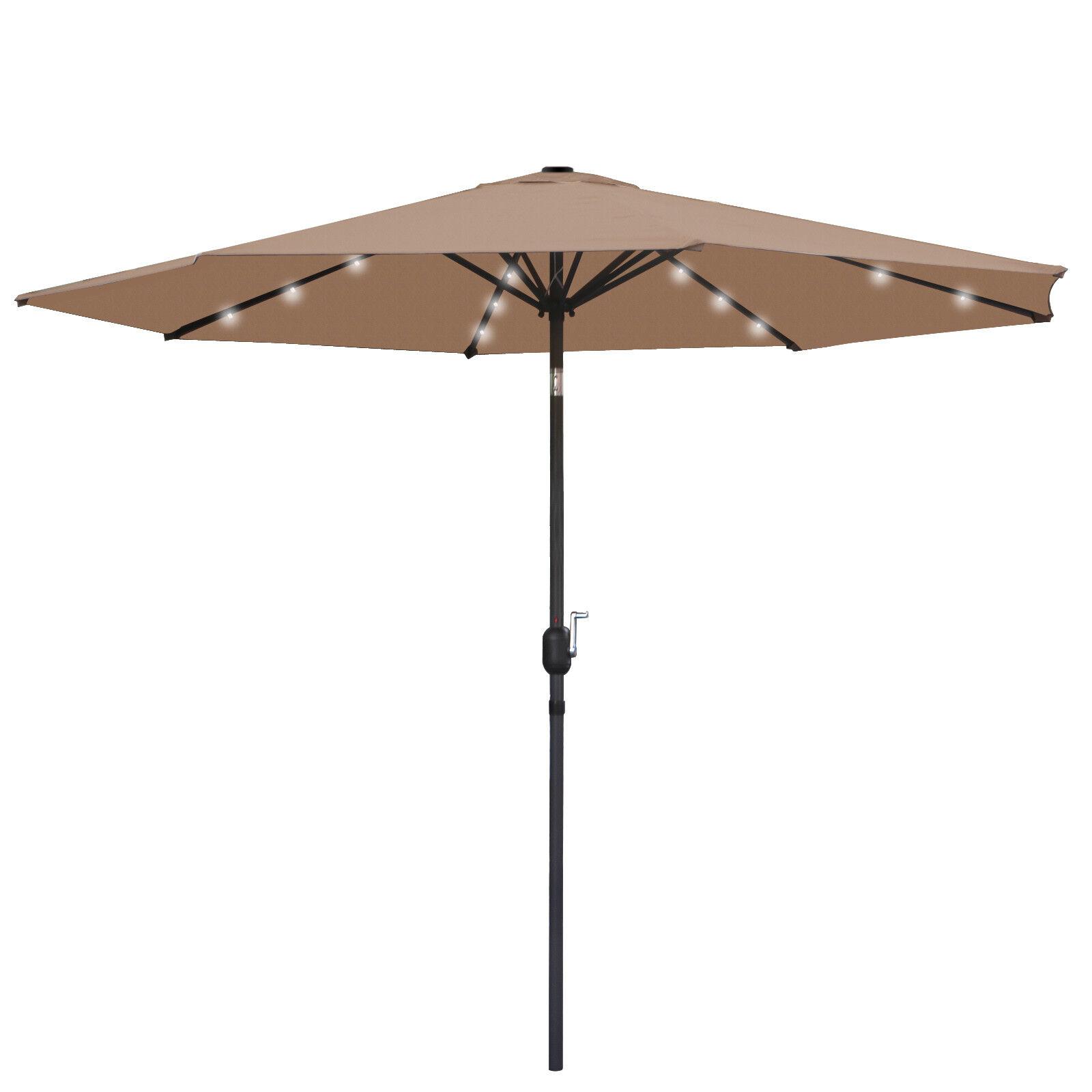 10ft solar umbrella led lighted patio market