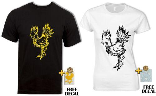 Final Fantasy Chocobo T Shirt FF7 FF15 Retro Classic Gaming Mens Womens Gift Tee