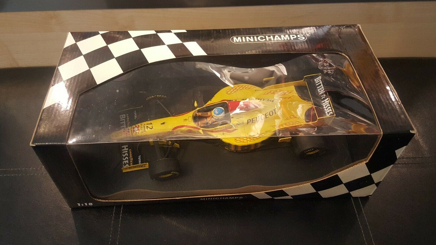 Giancarlo fisichello MINICHAMPS JORDAN 197 PEUGEOT 1 18 DIE CAST MODEL.