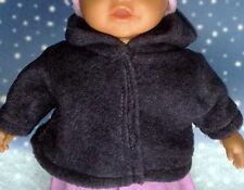 Jacke mit Kapuze in grau passend für Little Baby Born 32 cm Neu