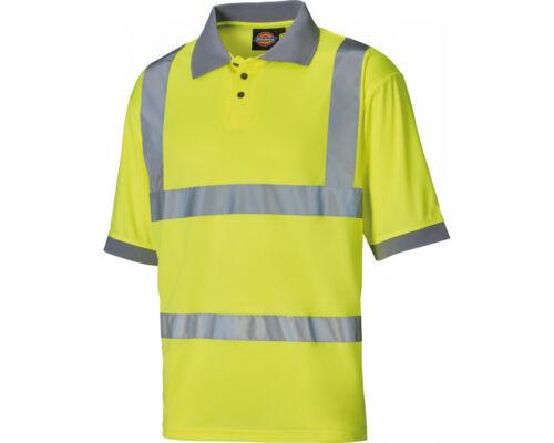 Dickies polo High Visibility Safety Polo Shirt S,M,L,XL,XXL,XXXL ORANGE//YELLOW