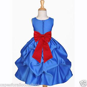 Details About Royal Blue Wedding Bridesmaid Infant Toddler Pageant Dancing Flower Dress
