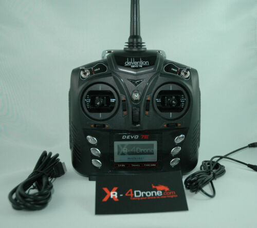 AR Drone 2.0 Mirumod XR-4Drone Plug & Play Kit with Devo 7e Transmitter and GPS