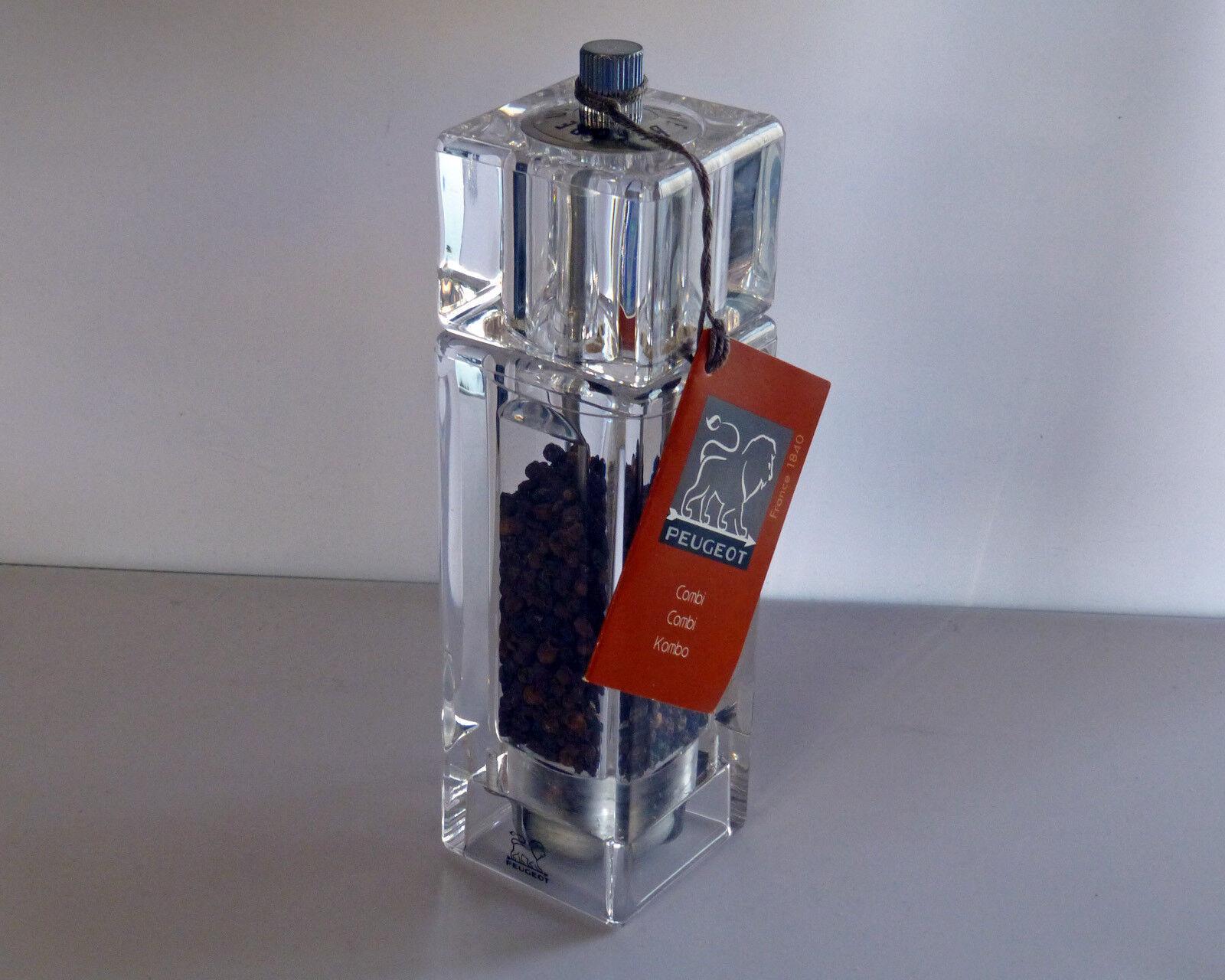 PEUGEOT MULINO DI Combi CLORIDRICO e pepe, acrilico 15 cm