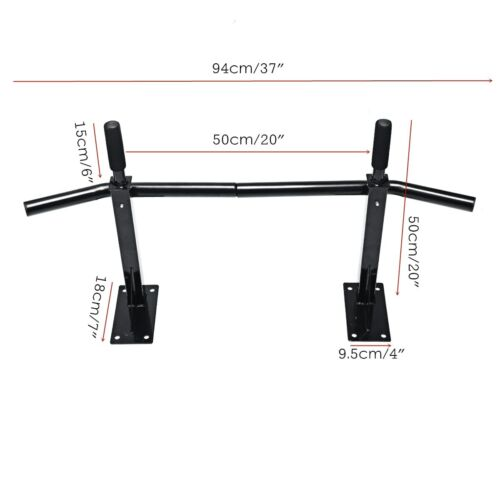 Gym Wall Mount Pull up Bar Chin Exercise Equipment Upper Body Home Work Out Back