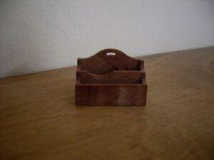 Dollshouse Miniature Mahogany ~  LETTER RACK KIT ~