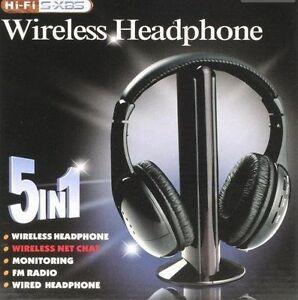 TechByte-Wireless-Headphone-Cordless-Headphone-with-FM-Radio