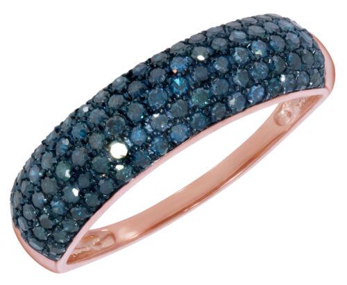 Prism Jewel 1.04 TCW Round Brilliant Cut Blue Color Diamond Wedding Band