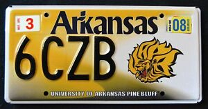 ARKANSAS-034-UNIVERSITY-OF-AR-PINE-BLUFF-LION-034-Specialty-License-Plate