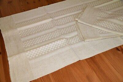 3 Alte Leinen Handtücher Küchentücher Kariert/gestreift Beige 105 X 47 Cm Online Shop