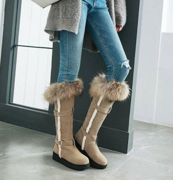 Womens Combat Vintage Round Toe Toe Toe Mid Calf Boots Winter Suede Flat Heel shoes 67d9aa