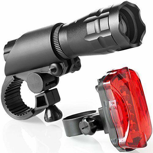 1Set Water Resistant Bike Bicycle Rear Safety 5 LED Flashlight Bracket Head Ligh