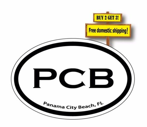 Panama City Beach Florida City Code Euro Decal//Sticker PCB Choose Color