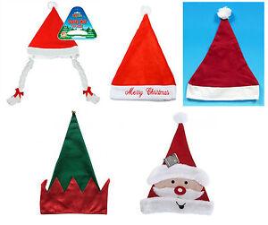 Novedad-Navidad-Navidad-Santa-Elf-Sombrero-Elaborado-disfrazarse-Varios-Disenos