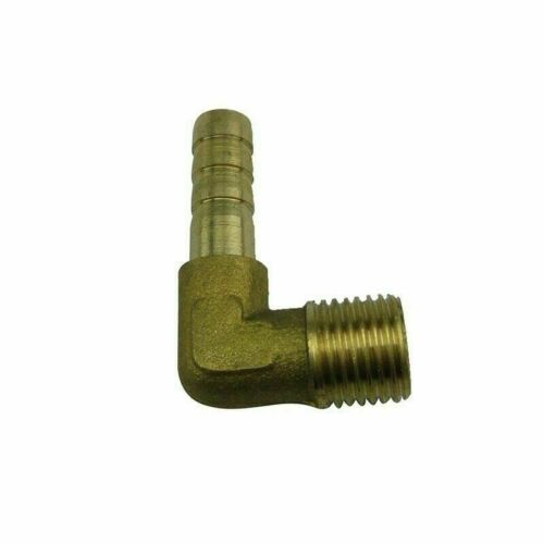 2pcs 1//2 In Barbed Male Thread Elbow Brass 90 Degree Barb Adapter Connector