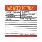 Hand Lettered Sticky Notes We Need to Talk 9781601064028 Knock Knock LLC 2012