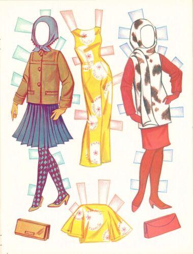 VINTGE 1966 MEET FRANCIE BARBIE MOD COUSIN PAPER DOLL ~ LASER REPRO~ORG SZ UNCUT