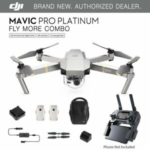 DJI-Mavic-Pro-PLATINUM-Fly-More-COMBO-Drone-4K-Stabilized-Camera-ActiveTrack