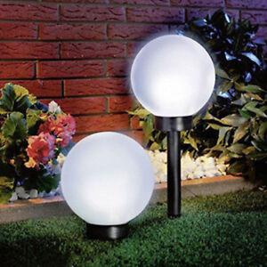 2x Solaire LED Lampe Sphérique Boule Luminaires de Jardin Neuf | eBay